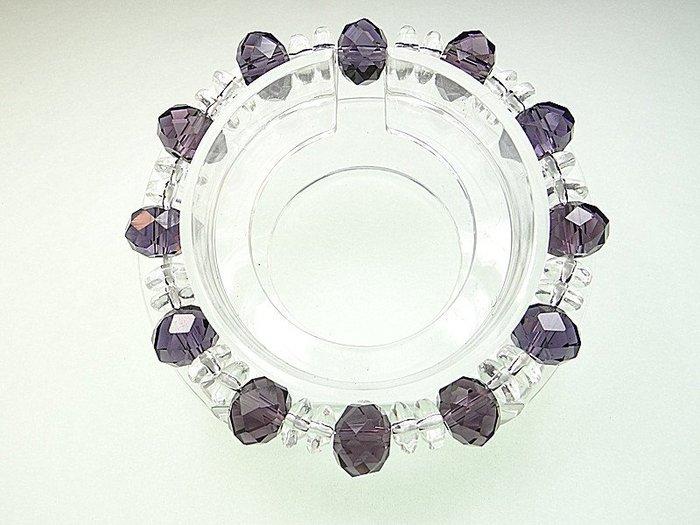 開運手鍊 手環 項鍊~ 智慧紫水晶琉璃 白水晶 招財 招愛情手鍊  小確幸