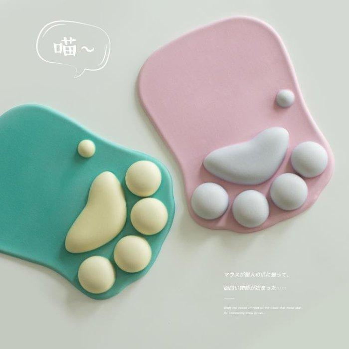 可愛貓爪滑鼠墊護腕墊子韓國創意辦公膠墊動漫女生萌物個性滑鼠墊