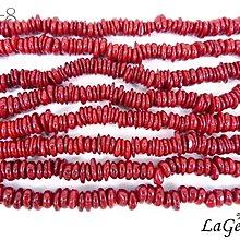 【寶峻晶石】特價190元/條~DIY串珠 海竹珊瑚 深紅不規則型珠(大) 獨創飾品/手鍊/項鍊 HZ-8 長度約40cm