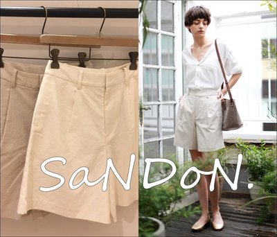 SaNDoN x UNGRID 官網六月新入荷 男友風隨性亞麻百慕達短褲 SLY MOUSSY 韓妮 160617