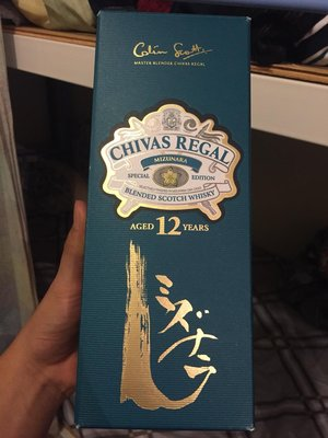 【日本限定】Chivas Regal Mizunara Special Edition Whisky 芝華士水楢木桶特別版【有盒】