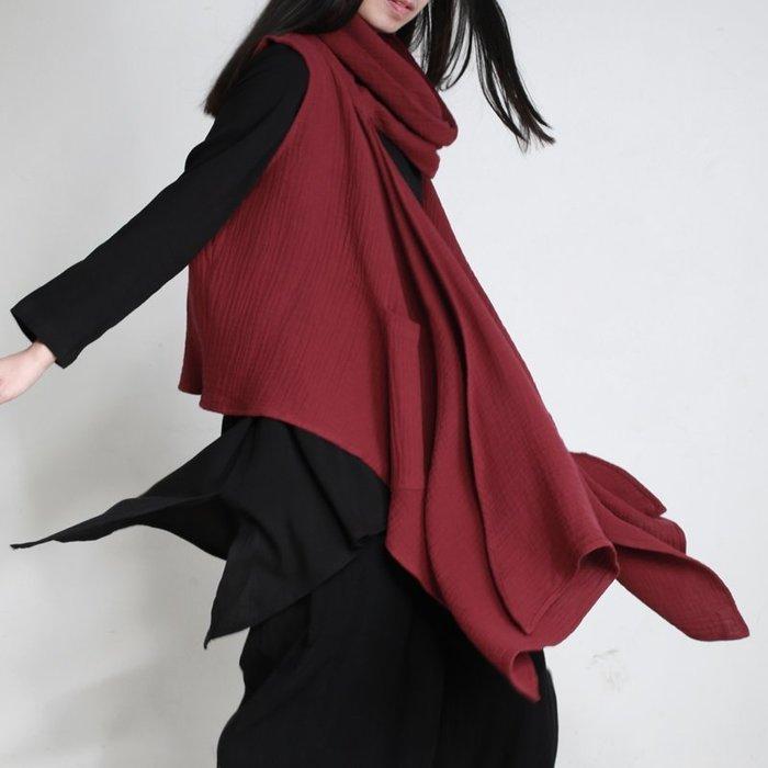 高領時尚設計款個性背心(老銀屋)