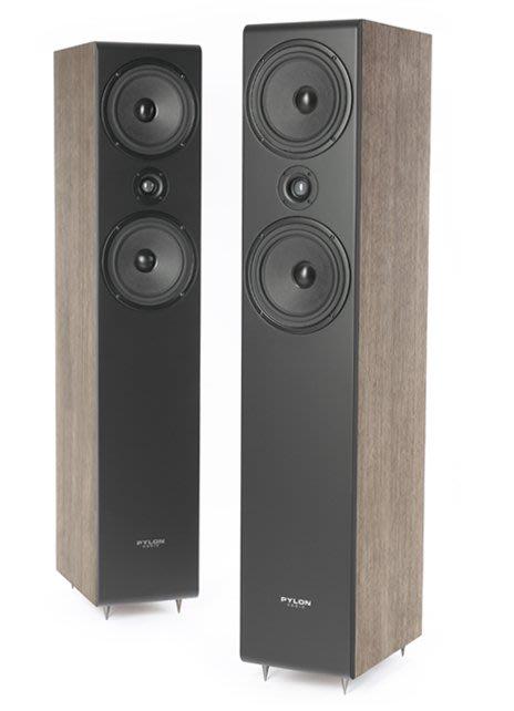 【昌明視聽】音質細膩 落地式主喇叭 PYLON Opal 23 實木(橡木)、前飾板-消光黑、櫻桃色 另有鋼琴烤漆白色