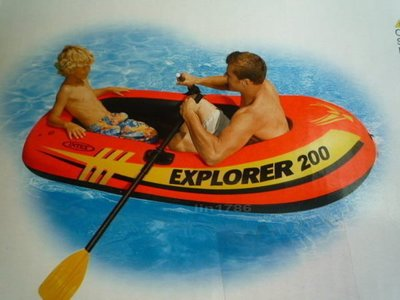 INTEX58331 原廠二人充氣船185*94*41cm附充氣筒船槳 送修補貼 釣魚游泳玩水救生艇