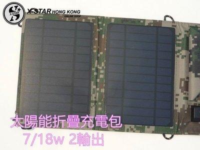 1631151  1  7/18/21w  柔性 太陽能 電池 折疊包 移動 電源 充電器 包SF門市自取