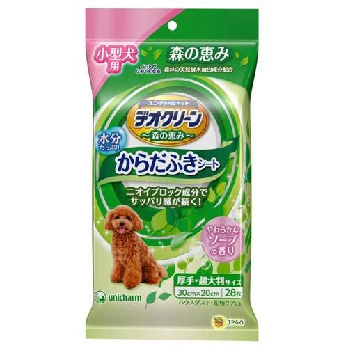 【JPGO】日本製 嬌聯 小型犬用濕紙巾 清潔濕巾 厚手超大判 28枚入~清爽香氛#641