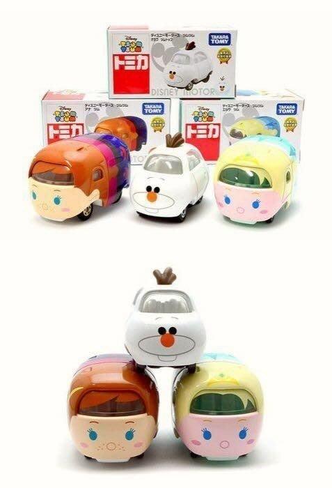 ☆橘子貓的918号店☆日本 迪士尼 冰雪奇緣 多美車 ( ELSA  ANNA 雪寶) 3台一組