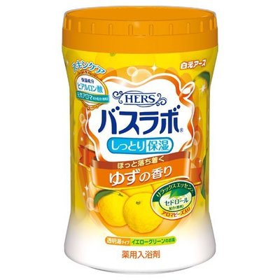 日本 白元 HERS 碳酸溫泉入浴劑 680g~清新柚香