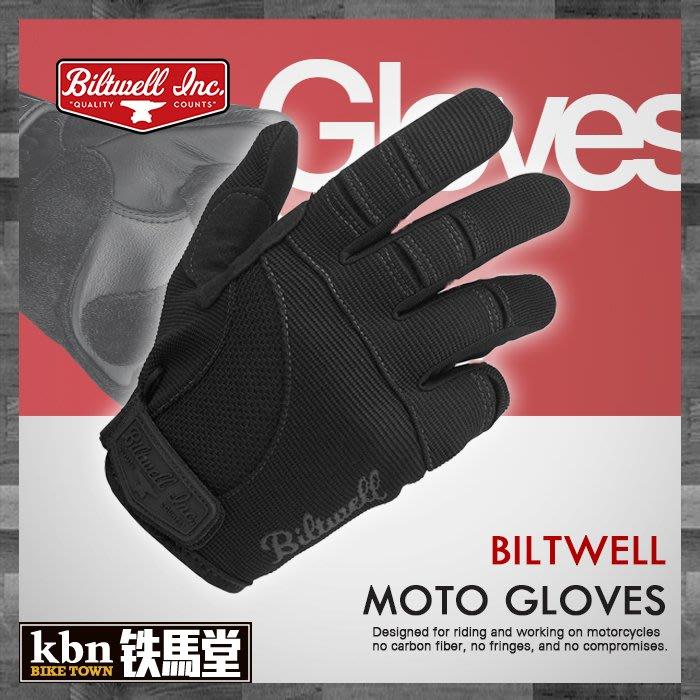 ☆KBN☆鐵馬堂 美國 Biltwell Moto 短手套 復古 布質 可觸控 防摔 技師手套 騎士 黑