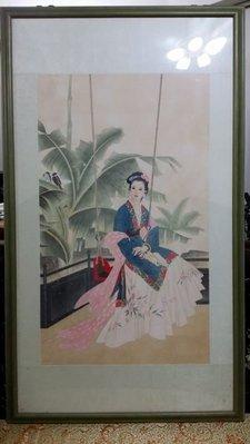 ॐ〘聖多羅〙仕女芭蕉-無落款 疑是王美芳/趙國經 畫作?
