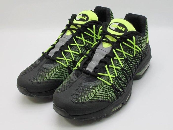 無鞋盒 2015 NIKE AIR MAX 95 ULTRA JCRD 黑螢光綠 輕量化 慢跑鞋 749771-007