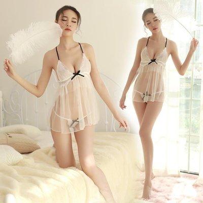 情趣內衣火辣透視網紗露乳吊帶小胸睡裙激情套裝性感大碼蕾絲睡衣