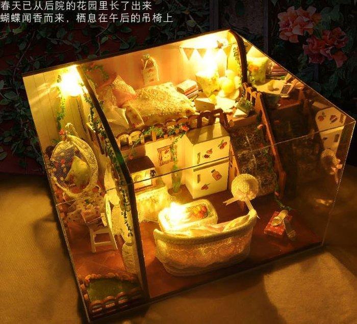 地下尋寶庫:DIY小屋袖珍屋娃娃屋材料包小屋春之花語 台北車站實體店面 生日情人節新年禮物