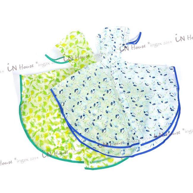 IN House*🇹🇼現貨 歐美 兒童 恐龍 火箭 輕便 斗篷式 披風式 連身 雨衣 非一次性便攜 連帽雨衣