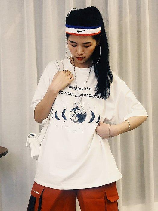 夏季女裝短袖T恤 超火cec短袖女新款潮ins網紅黑色t恤韓版純棉寬松情侶裝夏裝