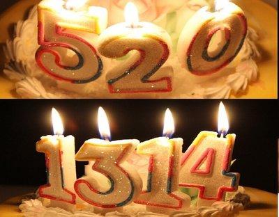蛋糕 大號蠟燭 蠟燭 大型 520 0-9數字蠟燭 糖果蠟燭 生日蠟燭 求婚 告白 情人節 蠟燭【P110001】