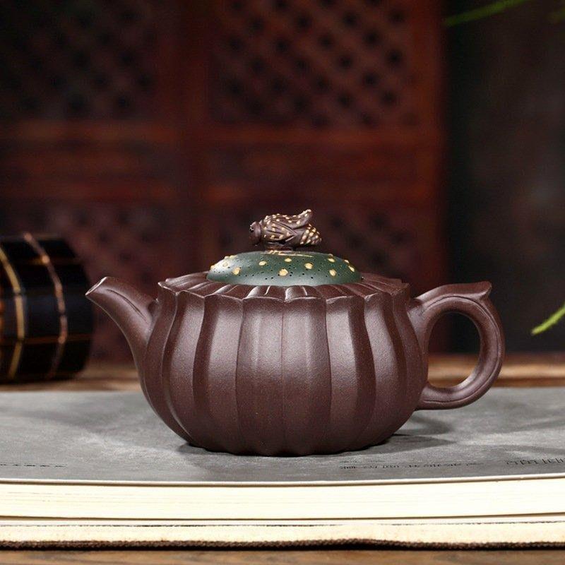 中國宜興紫砂壺~蜂菊壺