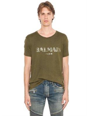 ~The Black Dan Moccani~ [頂級牛仔褲品牌] BALMAIN LOGO字樣 基本款短袖 T恤