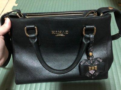 KINAZ 手提包 黑色 專櫃正品