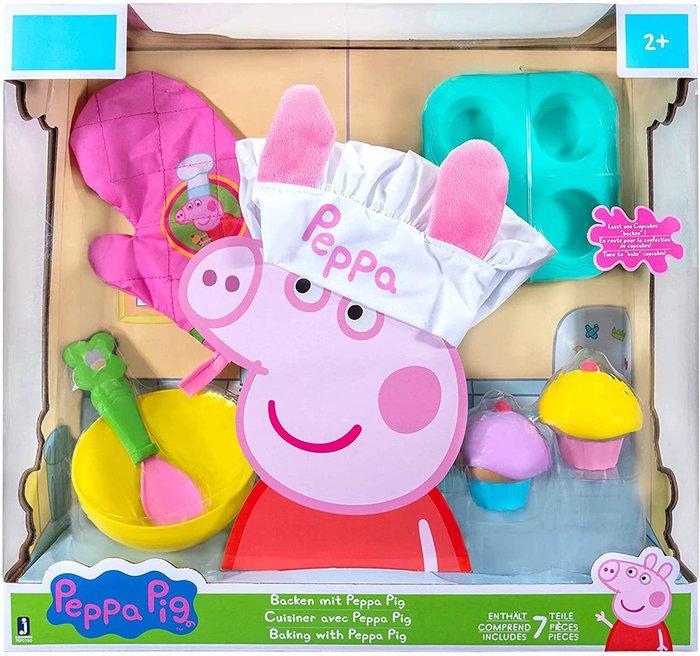預購 美國帶回 Peppa Pig 英國豬小妹 佩佩豬 喬治豬 小廚神 玩具組 生日禮 七件組