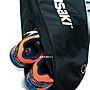 限時優惠價..熱賣款KAWASAKI 網球羽毛球 兩用雙層球拍袋 網球拍可裝3支 羽球拍 可裝6支