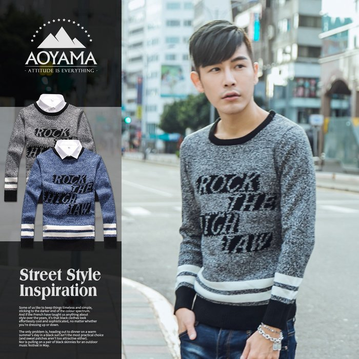 針織毛衣 韓系滾領雪花設計針織毛衣【X50253】 青山AOYAMA