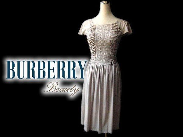 *Beauty*BURBERRY日本黑標抓皺彈力洋裝 38號 WE14