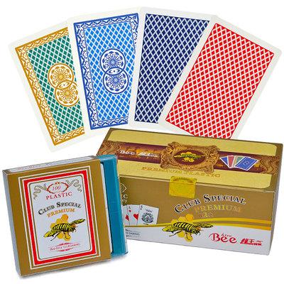 哈尼店鋪*Bee·hive小蜜蜂背紋梭哈牌 防水可水洗塑料撲克牌 雙面磨砂橋牌優惠推薦