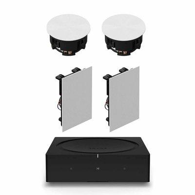 【MEIGO美購】Sonos INCLGWW1內置揚聲器,帶INWLLWW1入牆式揚聲器和Sonos Amp New