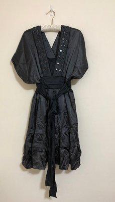 Development by Erica Davies 美式風格 深V 絲質黑色洋裝 高級 質感 20181115-1