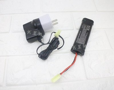 台南 武星級 9.6V 鎳氫電池 標準型+ 9.6V 充電器 ( 充電電池AEG EBB電動槍AK步槍BB槍BB彈MP5