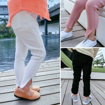 ♥【GK0150CK-8717】韓版女童裝ins爆款純色開岔長褲 3色 (粉色 現貨) ♥
