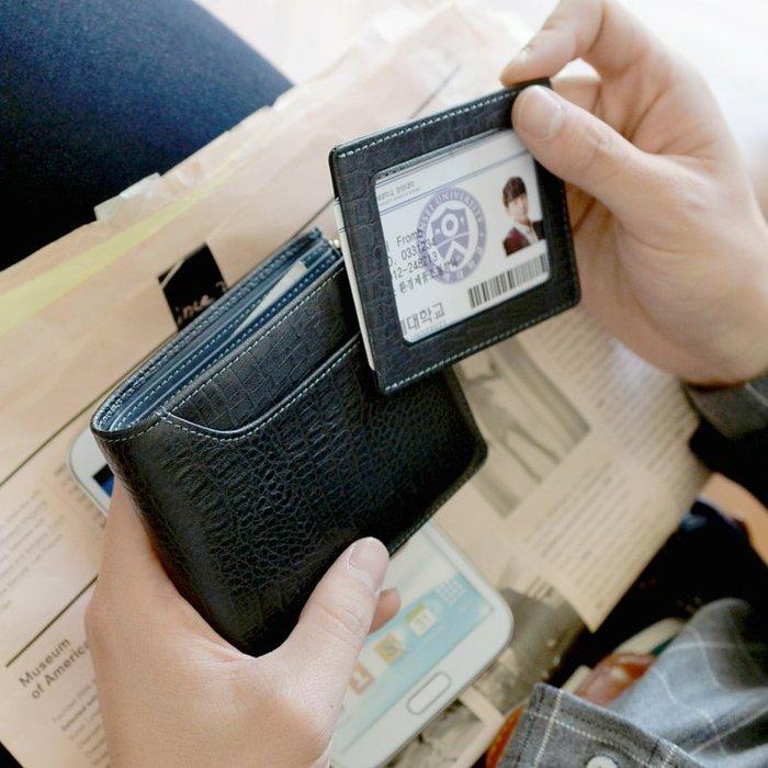 【橘子包舖】男皮夾 韓國正貨FROMb 真皮拉鏈短夾錢包 [G0754] 零錢包 送男友送情人送父親