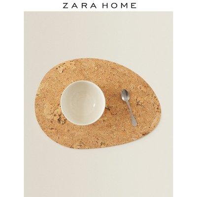 (免運)餐桌墊餐墊Zara Home 家用創意歐式自然色水滴狀軟木桌墊隔熱墊 43992023052