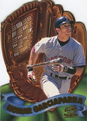 (T)紅襪明星游擊手 Nomar Garciaparra 1998 Pacific Paramount 手套特卡