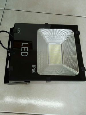 [晁光照明] LED投射燈 100W 超薄型 全電壓 晶芯:三安 正白/暖白光 LED燈泡 LED日光燈