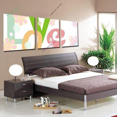 【70*70cm】【厚1.2cm】LOVE-無框畫裝飾畫版畫客廳簡約家居餐廳臥室牆壁【280101_419】(1套價格)