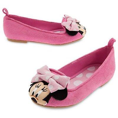 【雍容華貴】現貨!美國迪士尼官網Disney 米妮粉色/粉紅蝴蝶結點點童鞋/娃娃鞋,女童/女孩的最愛