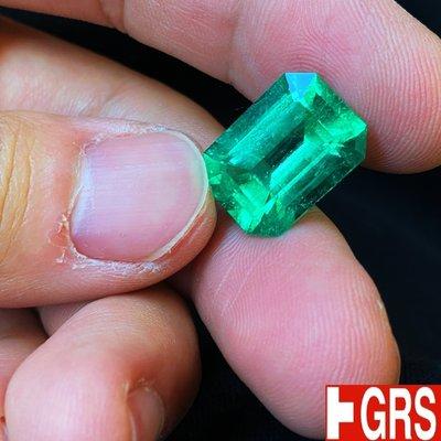 【台北周先生】大顆 Insignificant 幾乎無油 天然祖母綠 12.41克拉 超乾淨 頂級完美放光 哥倫比亞產
