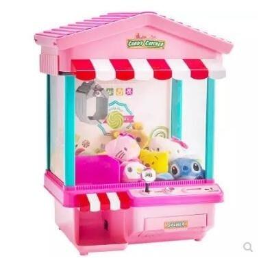 娃娃機 迷妳抓娃娃機夾公仔投幣鬧鐘遊戲機小型家用電動兒童夾糖果機玩具  JD   全館免運