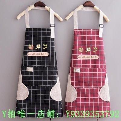 新品日本圍裙女秋季新款爆款透氣網紅同款家用廚房做飯防水防油滿額免運