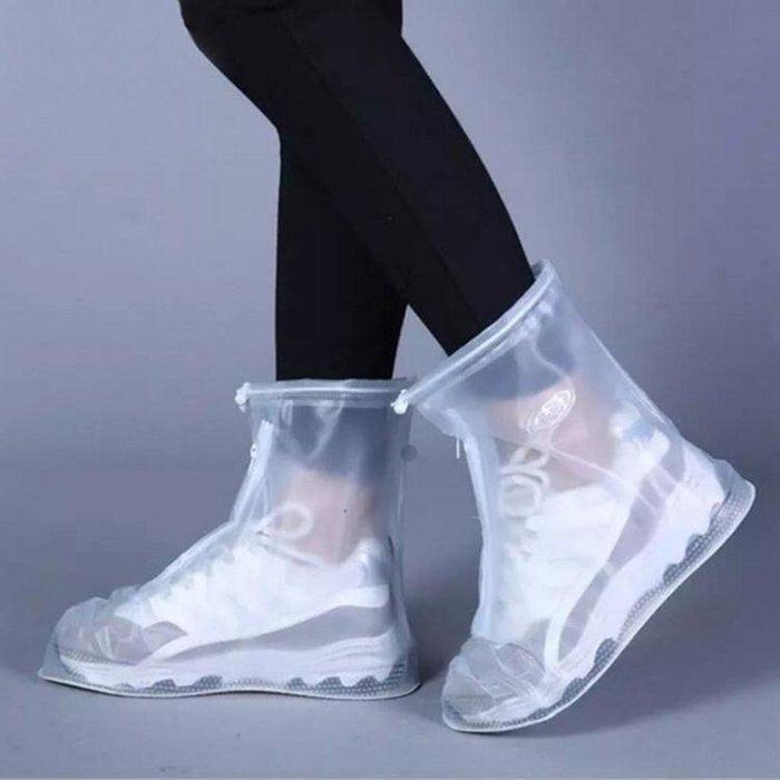 時尚透明短筒防雨鞋男女中高筒水鞋套兒童防滑加厚成人戶外防水靴
