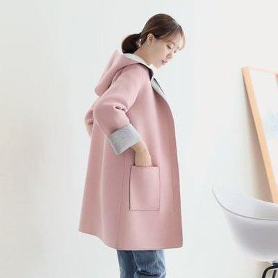 Bellee  正韓  挺版太空棉拉鍊長版連帽外套   (4色)   【PA1167】 預購