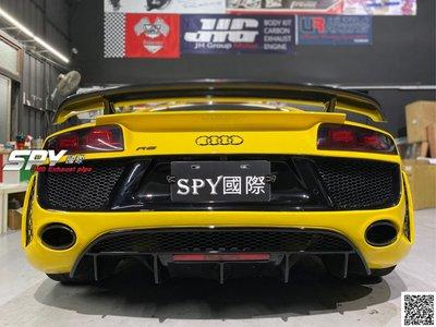 SPY國際 奧迪 Audi R8 專用 碳纖維 卡夢 雙層尾翼