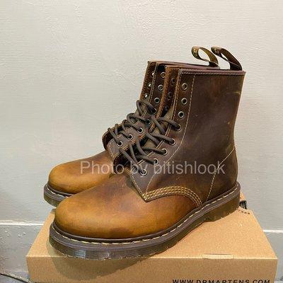 Dr.Martens 馬丁鞋 馬汀鞋 經典1460 8孔  棕色 硬皮 【 BRITISH LOOK 】