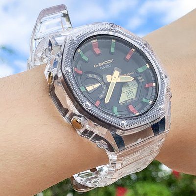 一體式透明冰川 G-SHOCK 改裝適用於GA2100 GA2110 錶殼 錶帶 卡西歐 現貨+預購 《SWAG史瓦客》