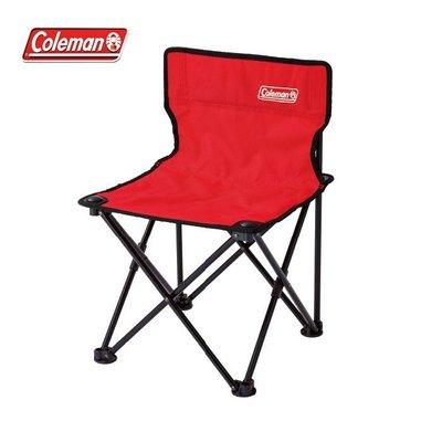 【露營趣】新店桃園 Coleman CM-26845 吸震摺椅/紅 摺疊椅 童軍椅 休閒椅 露營椅