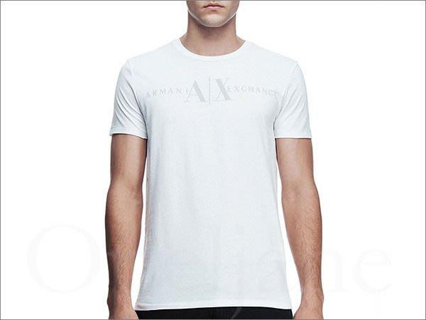 美國真品 Armani Exchange AX 阿曼尼白色A|X LOGO文字純棉短T潮T恤 免運費 XS M L號
