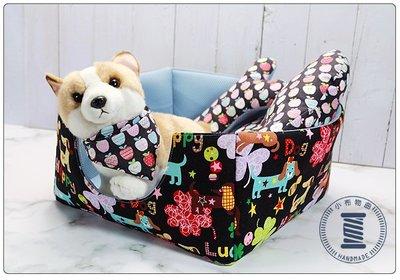 ✿小布物曲✿手作寵物休憩壂- 舒適100%純棉製作 3D透氣彈力布料 讓毛寶貝安穩的休息 寵物 客製化