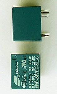 [已含稅]~本月特價~松樂繼電器 24V T73 SRD-24VDC-SL-C 5腳 全新原裝正品 (4個一拍)